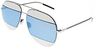 Christian Dior SPLIT 1 (010/3J) palladium/silver blue mirror Sunglasses