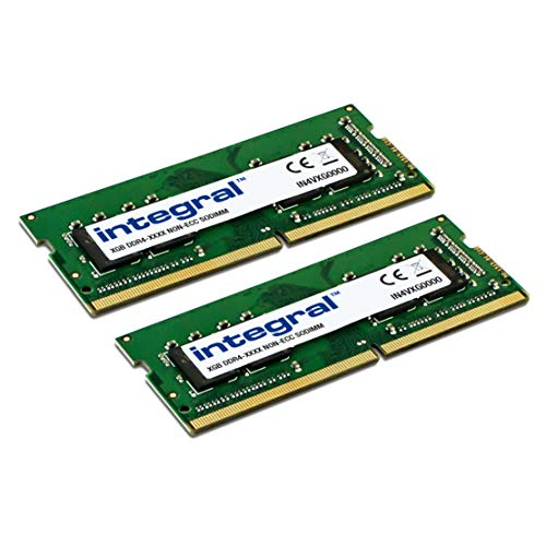 Integral 16GB kit (2X8GB) DDR4 RAM 2400MHz SODIMM Laptop/Notebook PC4-19200 memory