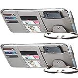 2 Packs Car Sun Visor Organizer, Auto Interior Accessories Storage Pocket Pouch Car Truck Sun Visor Case Bag for Pen CD Card Document (Gray)