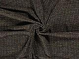 Boucle Tweed Stoff, Meterware, Schwarz