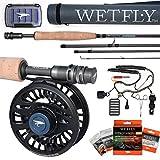 Wetfly Nitrolite Fly Fishing Rod and Reel Combo (5 WT)