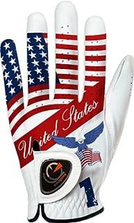 easyglove Flag_USA-1 Men's Golf Glove (White)