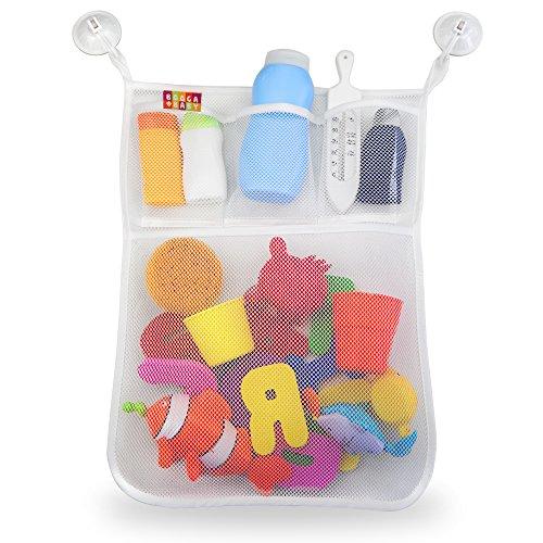 BOOGA BABY Bad Organizer für Badewannenspielzeug, Badespielzeug Aufbewahrung mit mehreren Taschen