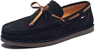 GXE Driving Loafer For Men Boat Moccasins Slip On Style Suede OX Leather Delicate Butterfly Lace British Style Fashion