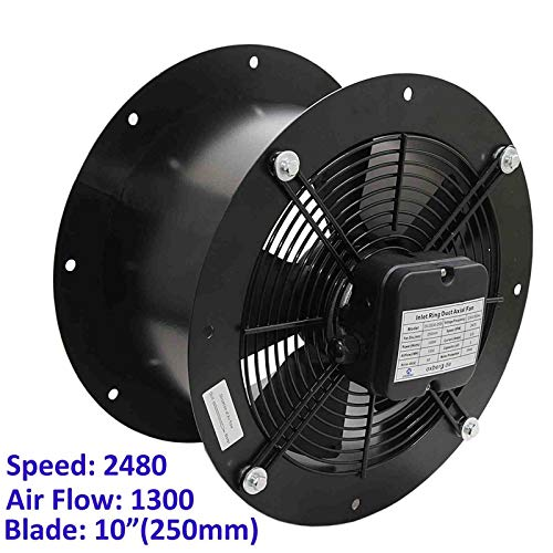 Industrial Duct Fan Cased Axial Commercial Kitchen Canopy Extractor 250mm