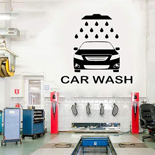 Servicio de lavado de coches etiqueta de la pared taller de automóviles coche vinilo decoración del hogar etiqueta de la pared extraíble dibujos animados vida arte decoración etiqueta de la pared