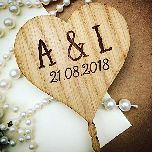 Heart cake topper wedding cake toppers rustic style for wedding engagement anniversary or birthday