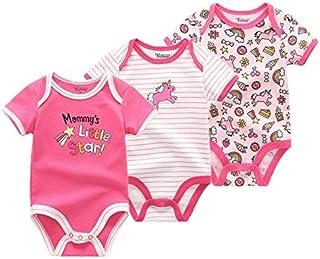 TATUE-Bodysuits - 3 PCS/lot newbron short sleeve baby bodysuit cotton baby Jumpsuit girls sets pudcoco baby girl baby girl...