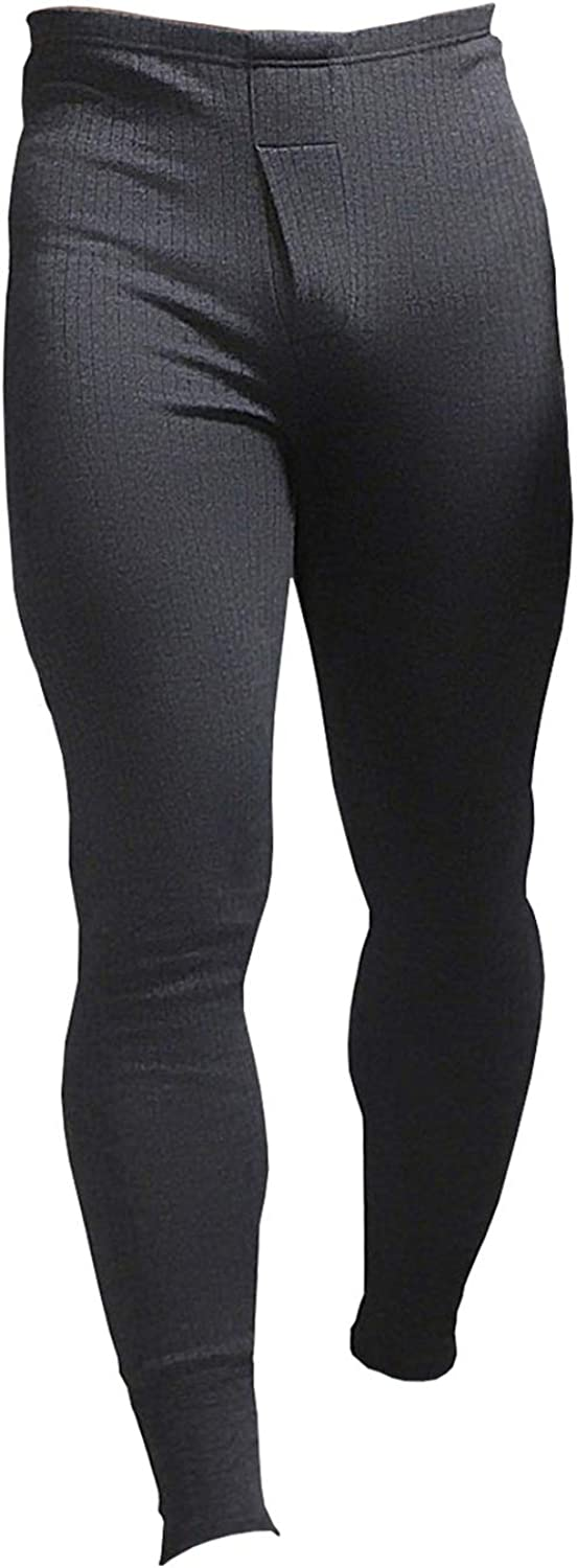 HEAT HOLDERS Mens Cotton Thermal Underwear Long Johns Charcoal Large 36-38