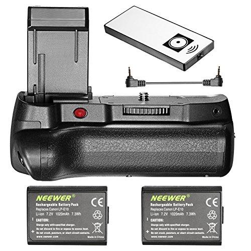 Neewer Grip Batería Control Remoto Infrarrojo Vertical
