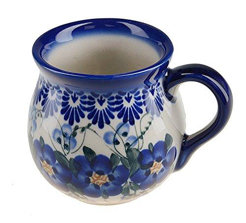 BCV Boleslawiec Pottery – Tazza in ceramica, dipinta a mano, 250 ml, 523-U-003