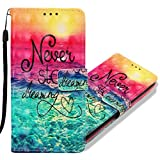 MRSTER Huawei Y6 2019 Case Premium PU Leather Flip Case 3D