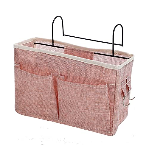 2 pieces of wall storage decoration pendants with hooks Storage bags for storage behind the wardrobe door, hanging storage bags,suitable for dormitories, hospital bed rails, and cribs 2pcsofpink