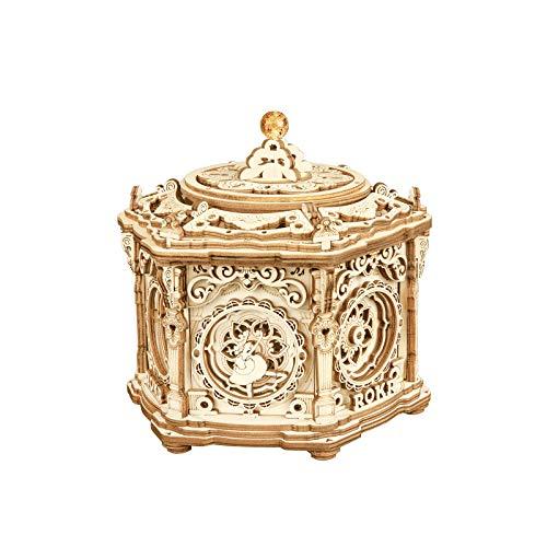 ROKR Holz 3D Puzzle Erwachsene Holzbauset Modellbausätze Viktorianische Laterne Mechanisch Musikbox Geschenke für Jugendliche und Erwachsene (Secret Garden)