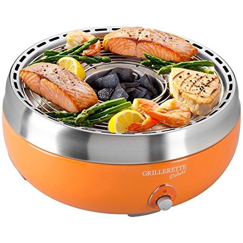 Food & Fun Deluxe Barbacoa de carbón Vegetal sin Humos