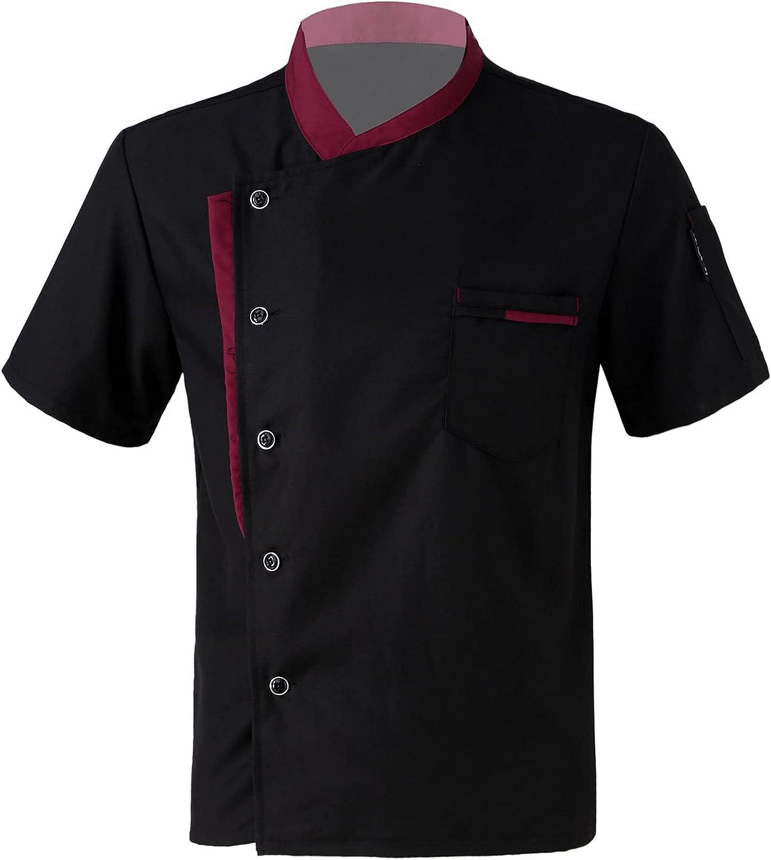 Moily Sale item Men Women Chef Coat Cooker Short Restau Elegant Sleeve Jacket