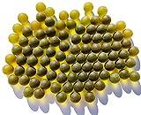 FAIRY TAIL & GLITZER FEE Canicas de cristal, color verde oscuro, aprox. 95 canicas, 16 mm, bolas de cristal esmerilado, relleno de jarrones, canicas, cuencos decorativos, juego de canicas