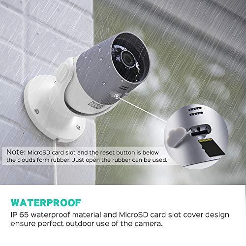 Panamalar Outdoor Kamera, WLAN 1080P Aussen Überwachungskamera Wasserdicht unterstützt Sprachsteuerung mit Alexa/Bewegungserkennung/ 2 Weg Audio/Nachtsicht,WiFi Außenkamera steuren von Handy App