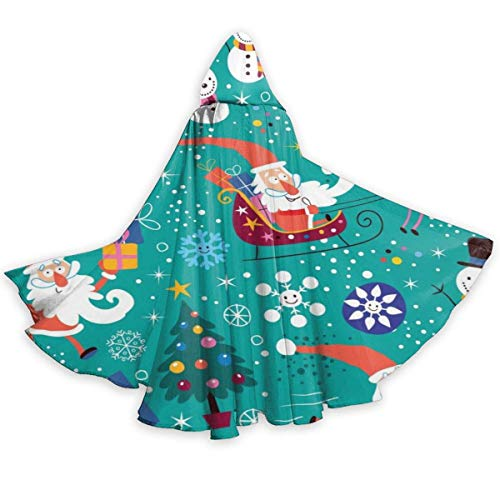 Amanda Walter Santa Claus y mueco de Nieve Capa de Halloween Capa Elegante con Capucha con cordn Traje de Bruja Fresco para Adultos Capa de Fiesta Extra Larga CLK-008