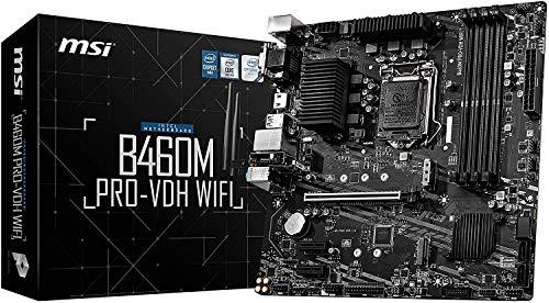 MSI - B460M PRO-VDH Wifi - Placa Base Pro Series (10th Gen Intel Core, LGA 1200 Socket, DDR4, Doble Ranura M.2, USB 3.2 Gen 1, Gigabit LAN, VGA/DVI-D/HDMI)
