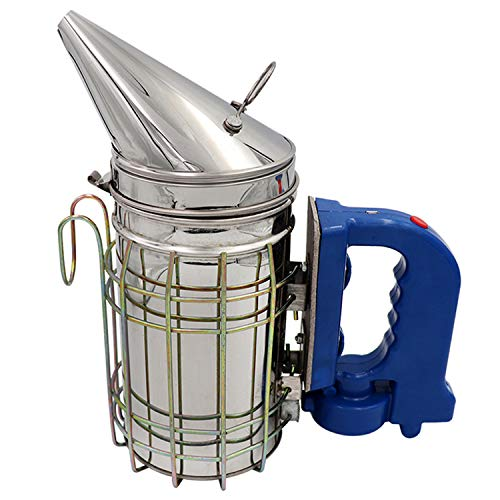Ahumador eléctrico de colmena de abeja para apicultor de acero inoxidable con herramientas apicolas de escudo térmico