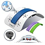 Back Stretcher for Pain Relief, Adjustable Lower Back Pain Relief Devices with Magnetic Acupressure Points, Upper and Lower Lumbar Stretching Massager for Herniated Disc,Sciatica, Scoliosis (Colorful)