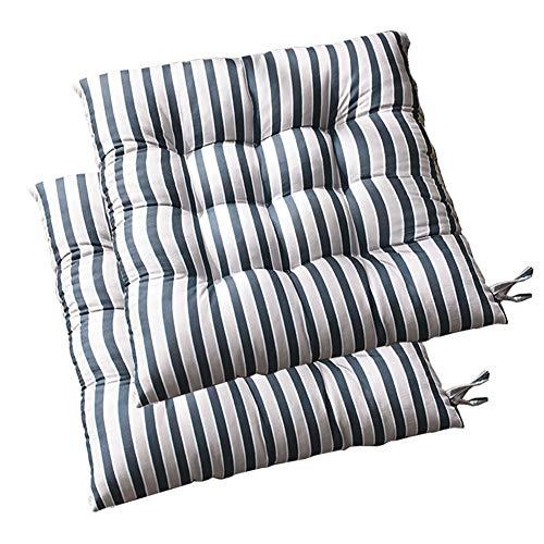 YJHH Cojines para Sillas de Cocin, Cojines de Silla de Cocina, Comodísimos Cojines de Asiento para Interiores y Exteriores, Cojines para Exterior 16x16in,Azul,2pcs