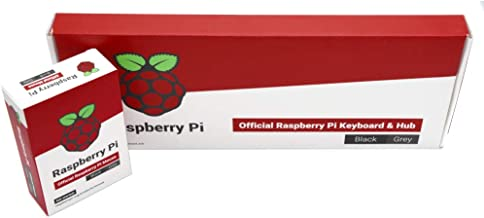 Raspberry Pi Official Keyboard and Mouse Value Pack (U.S. Version Black/Grey) by PepperTech Digital