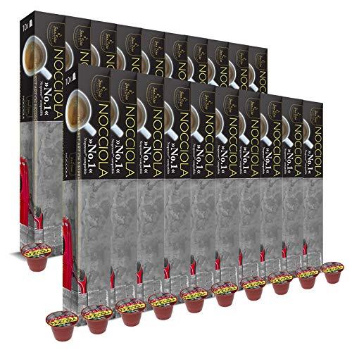 SanSiro 20x Kaffee Nocciola Baguette No. 1: Nespresso kompatible – 200 Kaffeekapseln, 1er Pack (1 x 1 kg)