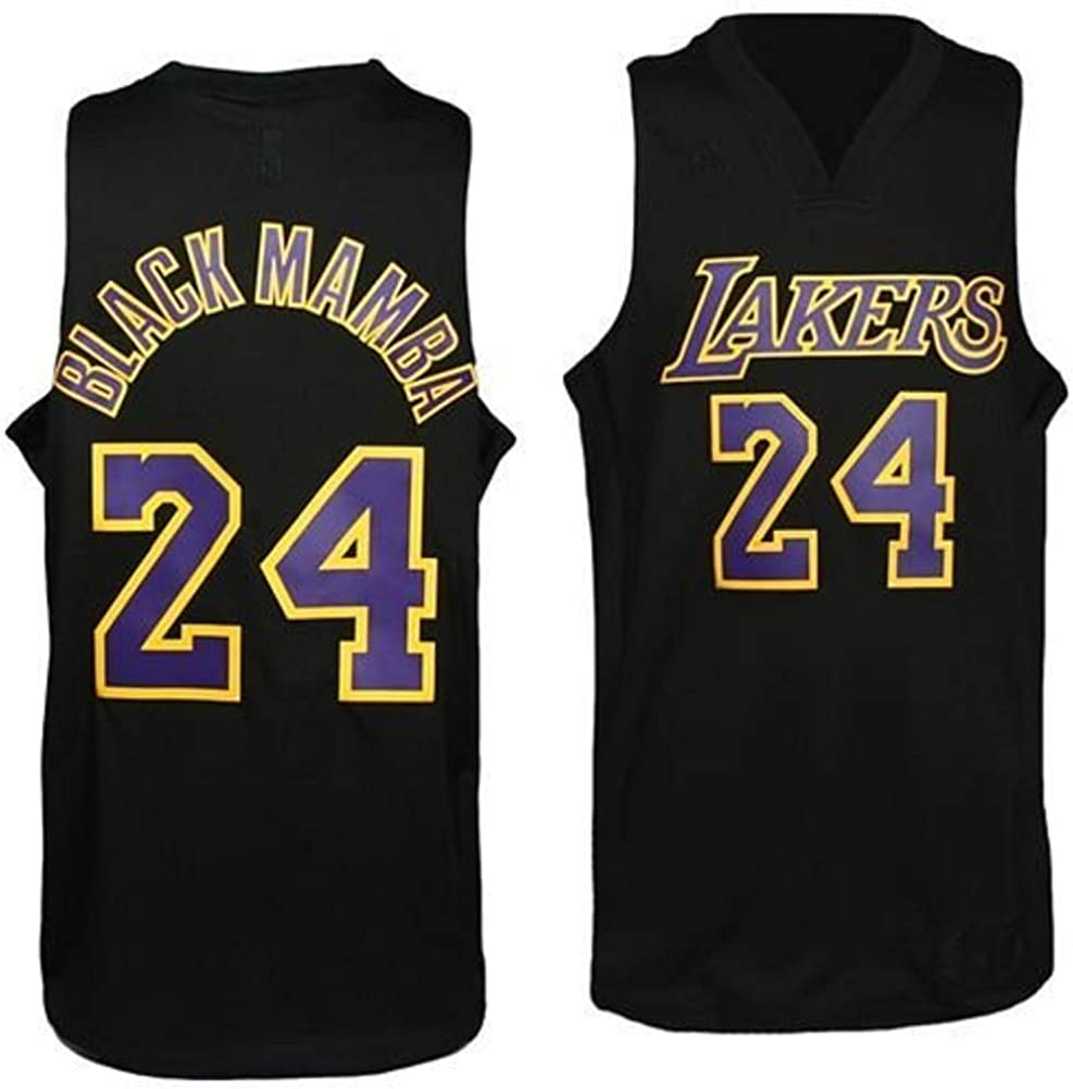 Amazon.com : NBA Men's Los Angeles Lakers Kobe Bryant Black ...