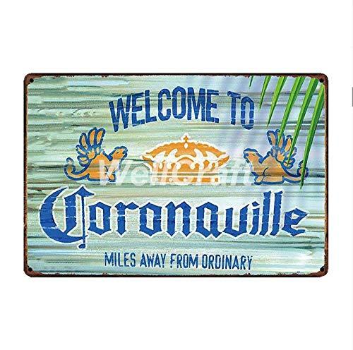 shovv Metalen blikken bord Corona Extra Bier Metalen Tekenen Zoek de Beach Wall Poster Decor voor Bar Pub IJzer Schilderen