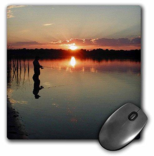 3dRose LLC 8 x 8 x 0.25 Inches Mouse Pad, Sunrise Fishing (mp_56143_1)