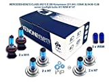 mercedes-benz e-class w211 e 200 kompressor 211.041 135kw, bj 04.06-12.08 lampadine allo xenon h11 w5w h7 h7