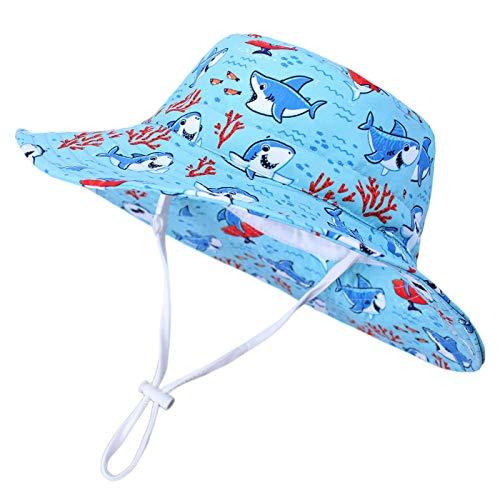 Happy Cherry - Niños Sombrero Pescador para Bebé Niñas Verano Infantil Gorra con ala Protectora del Sol de Cartoon Bucket Hat Lindo para Playa Vacaciones Al Aire Libre
