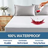 COHOME 100% Waterproof Mattress Protector Queen Fitted 8-21 inch Deep Pocket Breathable Mattress Cover