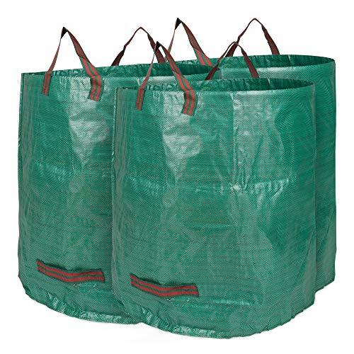 Edaygo Gartenabfallsack Laubsack Gartensack aus Polypropylen-Gewebe (PP), 500 Liter, 3 Stück