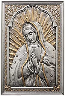 Veronese Collection Our Lady of Guadalupe Blessed Virgin Mother Mary 6 x 9 Pewter Wall Plaque