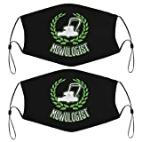 Kids Face Masks Set of 2 with 4 Filters Gardening Lawn Mower Washable Reusable Adjustable Black Breathable Cloth Bandanas Scarf for Adults Men Women