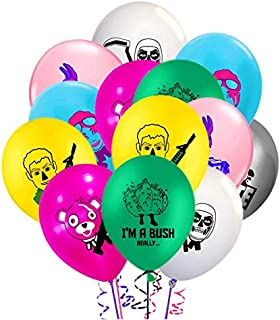 Merchant Medley 28 Count Battle Royale Birthday Balloon Pack - Large 12 Inch Size - Latex - Includes 7 Styles