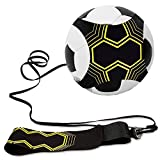 Allnice Soccer Trainer, Soccer Training Equipment Hands Free Soccer Kick Trainer Solo Practicing Soccer Training Aid with Adjustable Waist Belt for Kids Teens