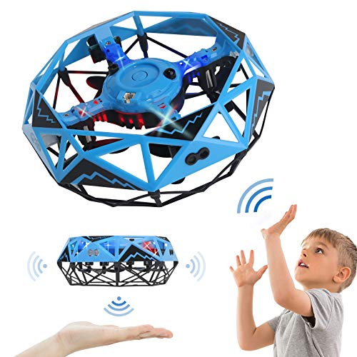 OUMMET Hand Operated Drones Toys for Kids or Adults - Mini Drones Hand Controlled Flying Ball Drone for Boys and Girls Motion Sensor Helicopter Best Gift for Birthday Christmas