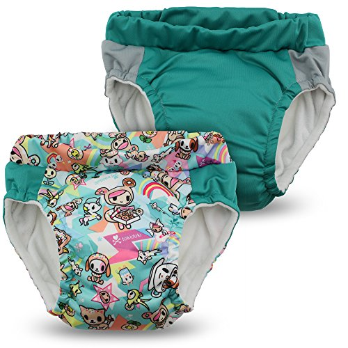 Kanga Care Sac imperméable Lil learnerz Formation couches (Grand, tokisweet et paon)