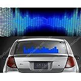 [キカー] [KIKAR] [車用音声起動EL発光ステッカー 車の音楽リズム ライト EL サウンド シート イコライザー] [12V・50x16CM] [ブルー]