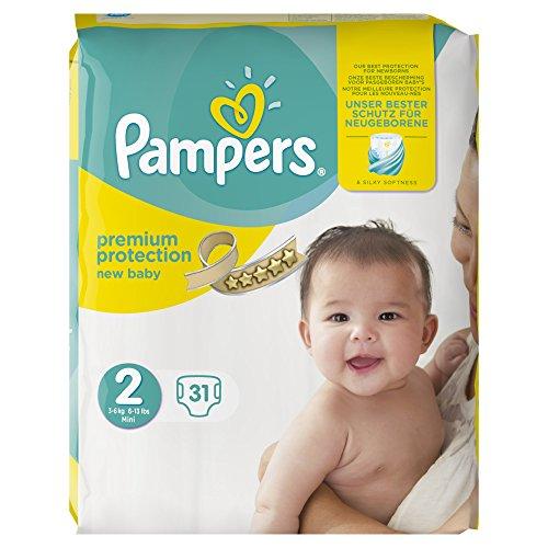 Pampers Premium Protection New Baby Windeln Tragetasche, Größe 2, 31 Stück