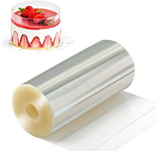 Amytalk Cake Collars 4 x 394inch, Acetate Rolls, Clear Cake Strips, Transparent Cake Rolls, Mousse Cake Acetate Sheets for Chocolate Mousse Baking, Cake Decorating