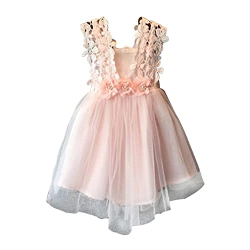 d6e6aa7a06 EGELEXY Baby Girls Sleeveless Lace Wedding Vintage Birthday Party Princess  Flower Dress