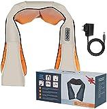 Best Goods Schulter- und Nackenmassagegerät elektrisches Nacken-Rücken-Massagegerät mit Wärmefunktion 3D-Rotationsmassage einstellbare Geschwindigkeit Shiatsu Massagegerät Heizkissen