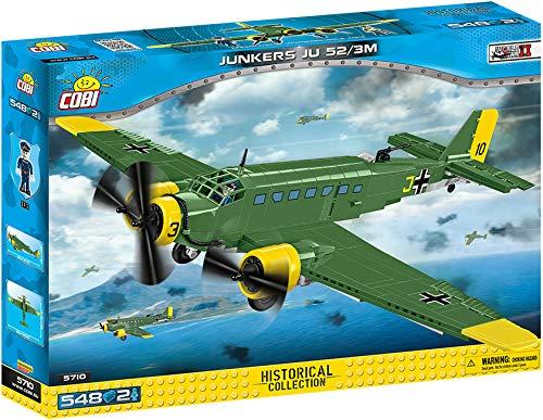 COBI COBI-5710 Junkers JU 52/3M Toys, Grün Gelb