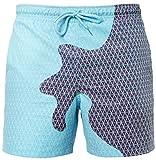 PANOZON Uomo Magico Cambia Colore Spiaggia Pantaloncini Nuoto Trunks Asciugatura Rapida Pantaloncini (X-Large, Marrone-1)