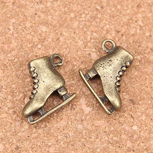 WANM Anhänger 6pcs Charms Skischuhe 21x18x6mm Antik Anhänger Vintage Tibetisches Silber DIY Schmuck für Armband Halskette